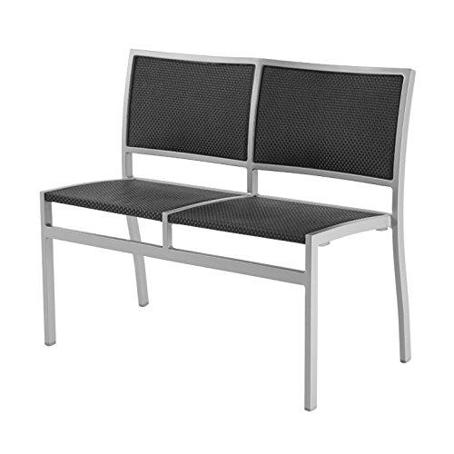 Dafnedesign.com - Panca con schienale nera - Struttura: metallo ...