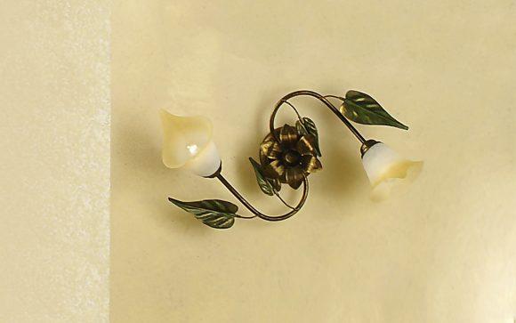 Plafoniere Con Foglie : Plafoniera decorata con foglie h dfl dafne design