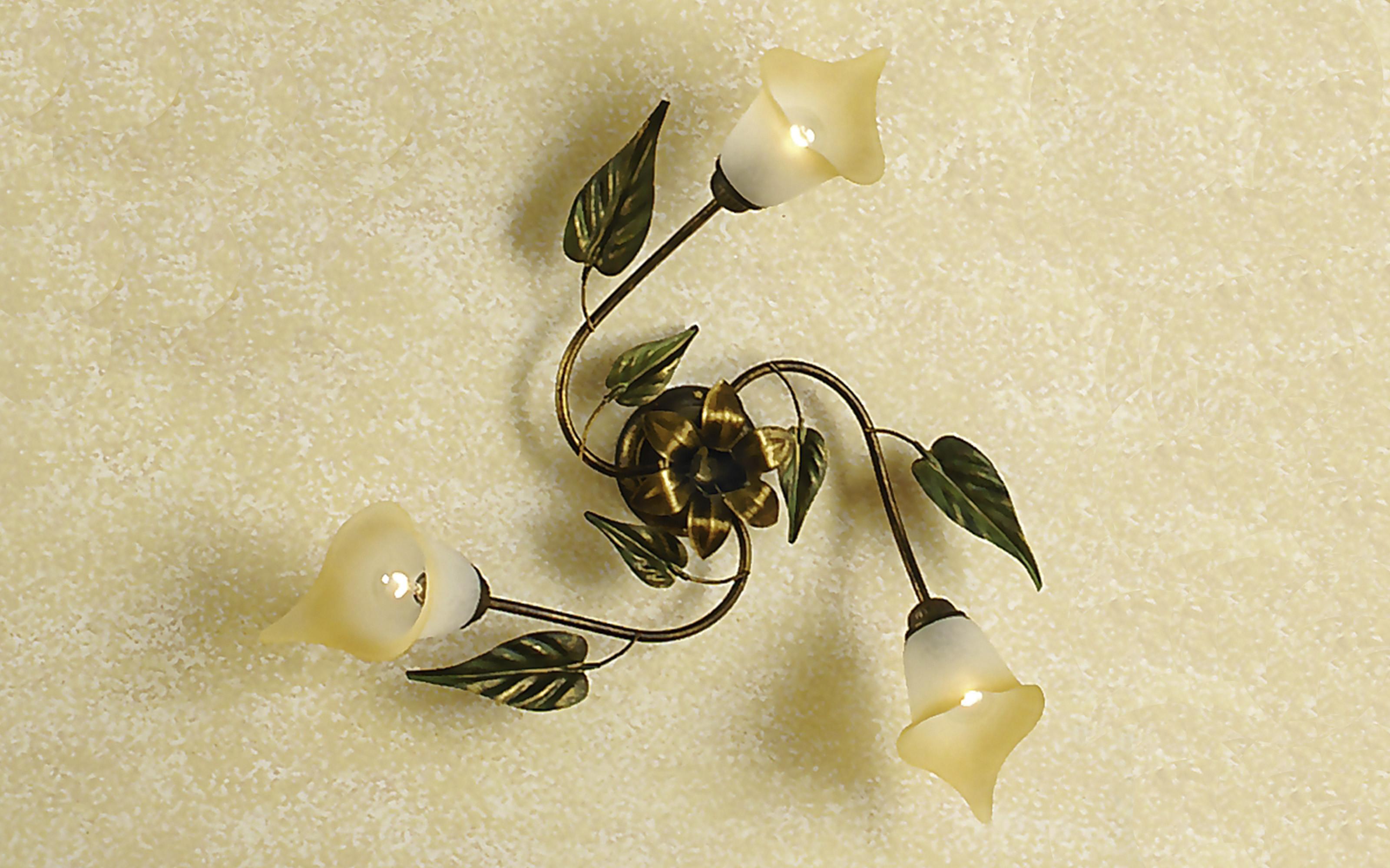 Plafoniere Con Foglie : Plafoniera decorata con foglie cm h dfl dafne