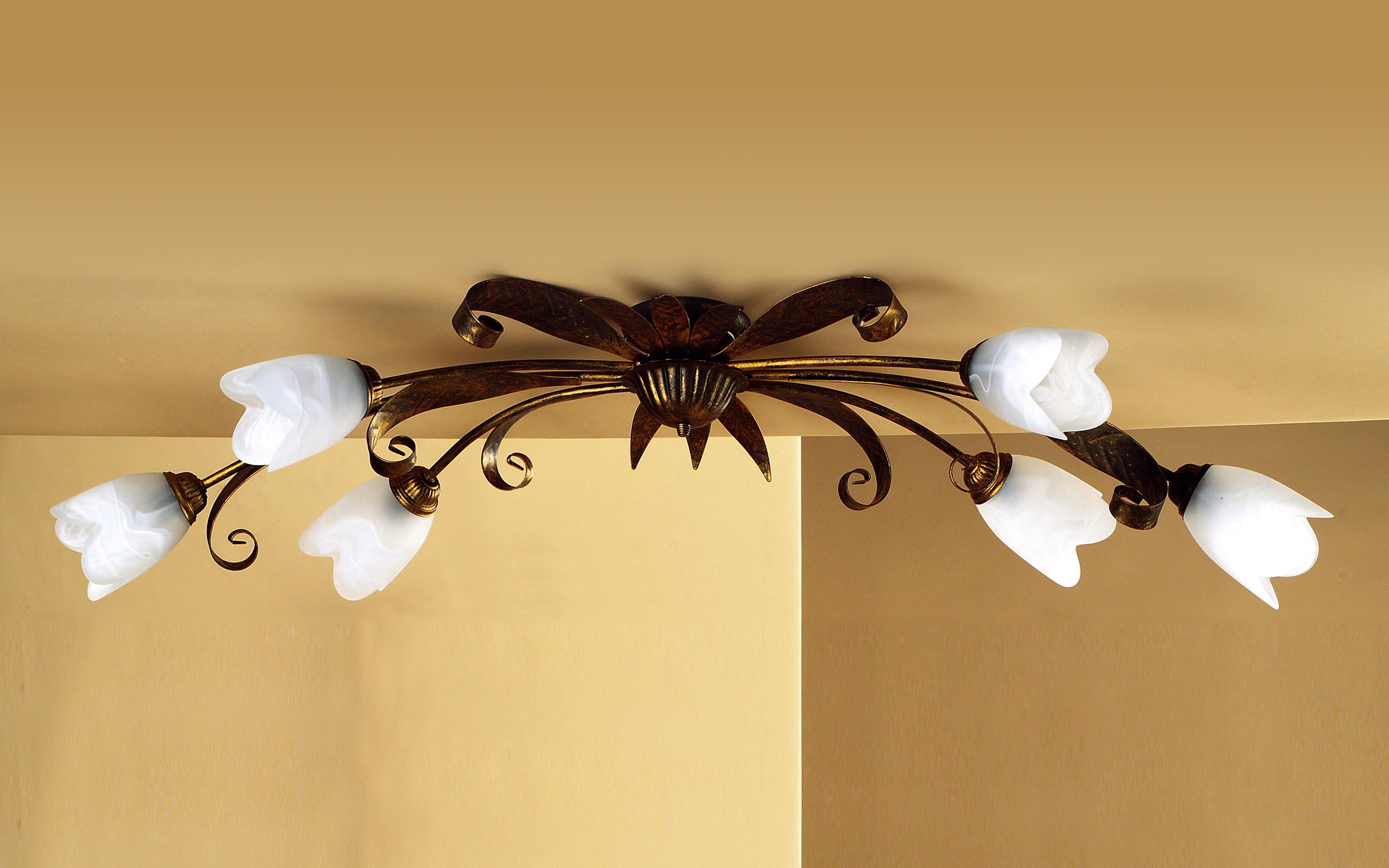 Plafoniere Ottone Per Esterni : Plafoniera ottone a fiori dimensioni cm  h dfl
