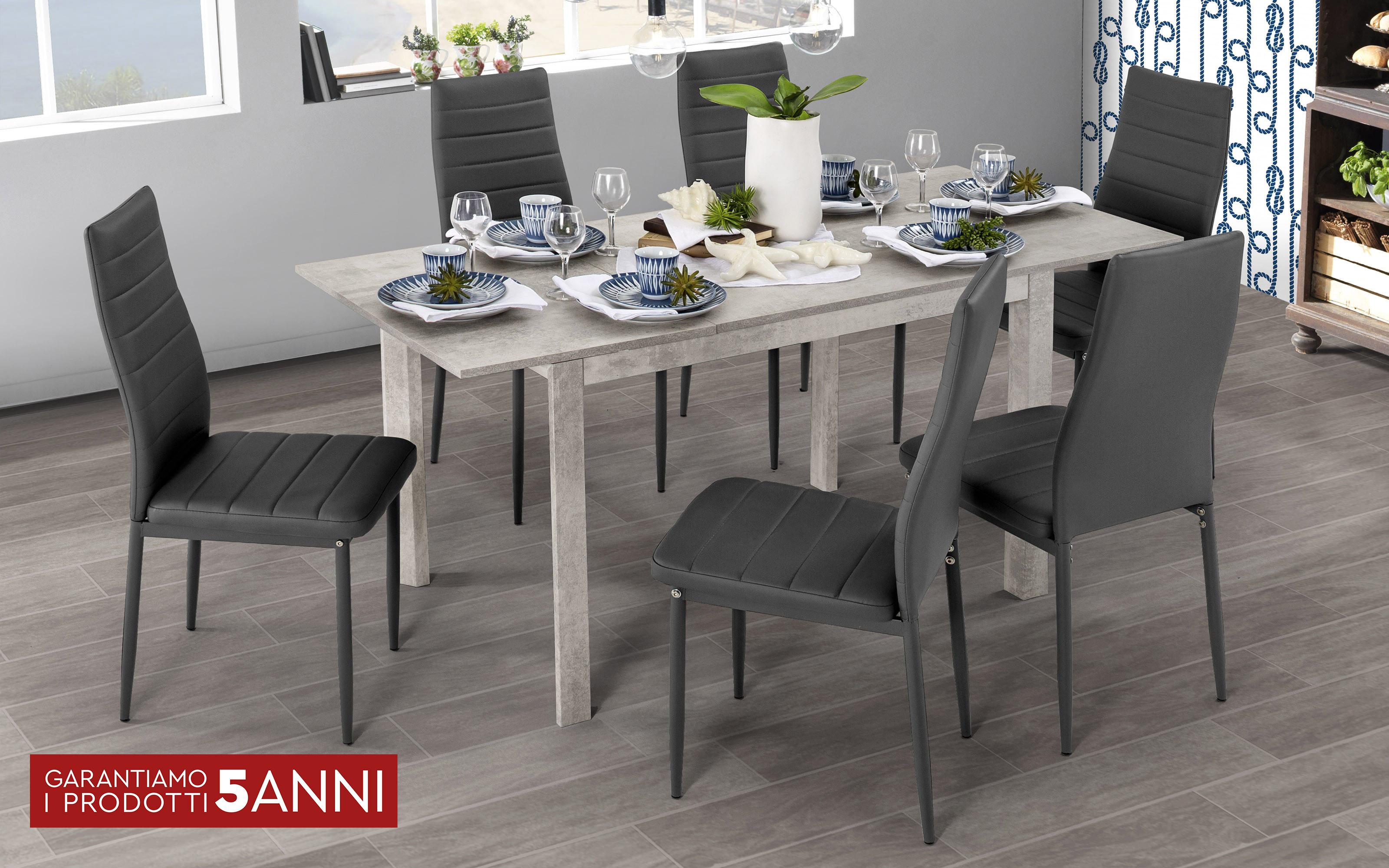 Tavolo Da Cucina 70 X 110 Allungabile.Tavolo Allungabile Color Cemento Cm 110 X 70 X 75h Dafne Design