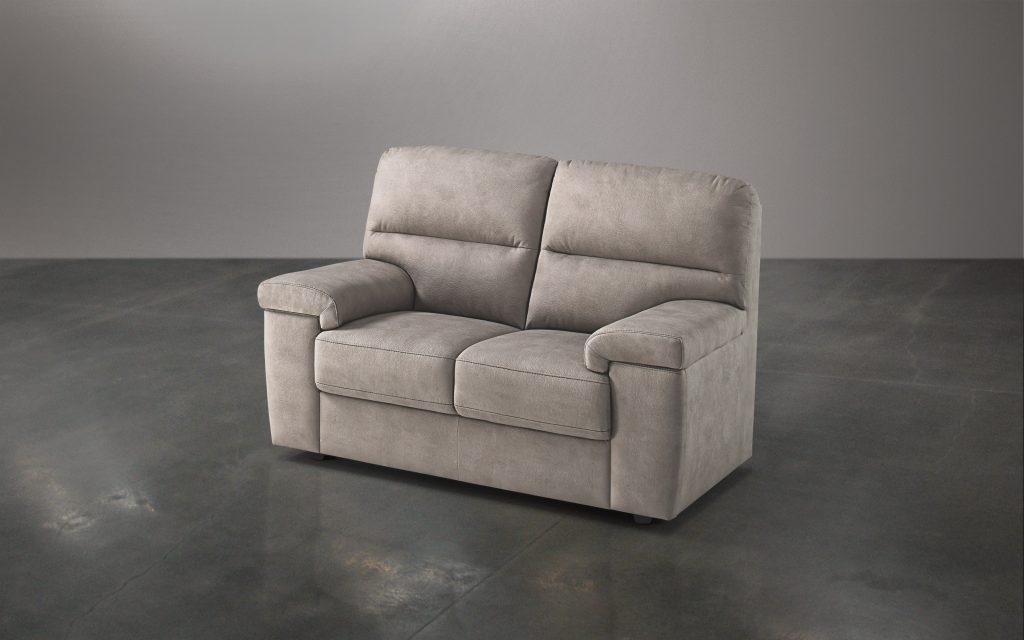 divano 2 posti similpelle effetto nabuk beige cm 155 x