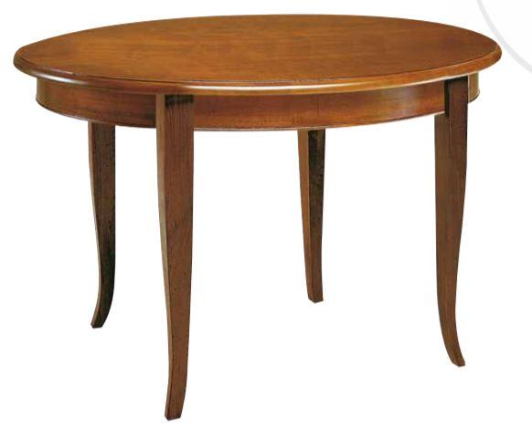Tavolo classico allungabile in noce , stile classico (cm. Ø 100) (TVG)