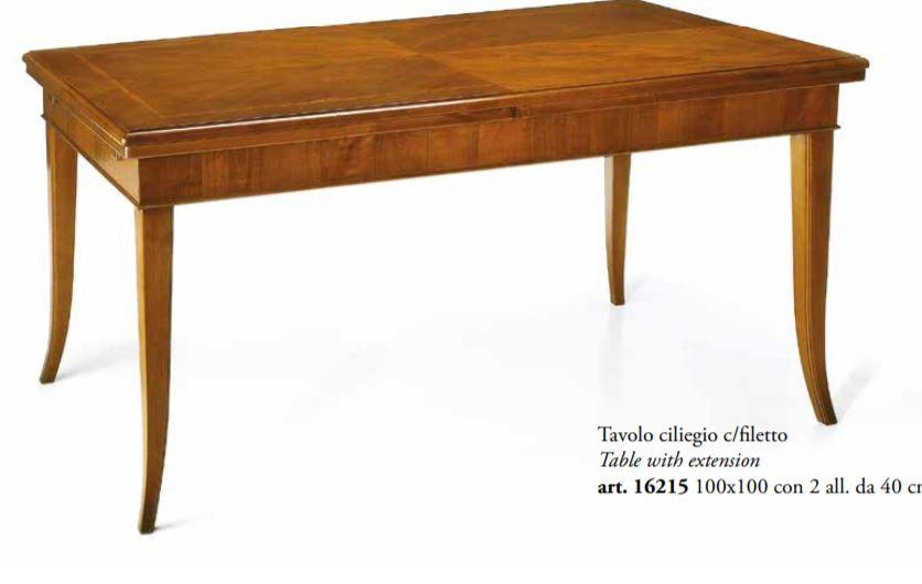 Tavoli Soggiorno Allungabili Classici.Tavolo Allungabile In Noc Stile Classico Cm L 100 P 100 Tvg