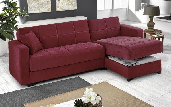 divano penisola contenitore