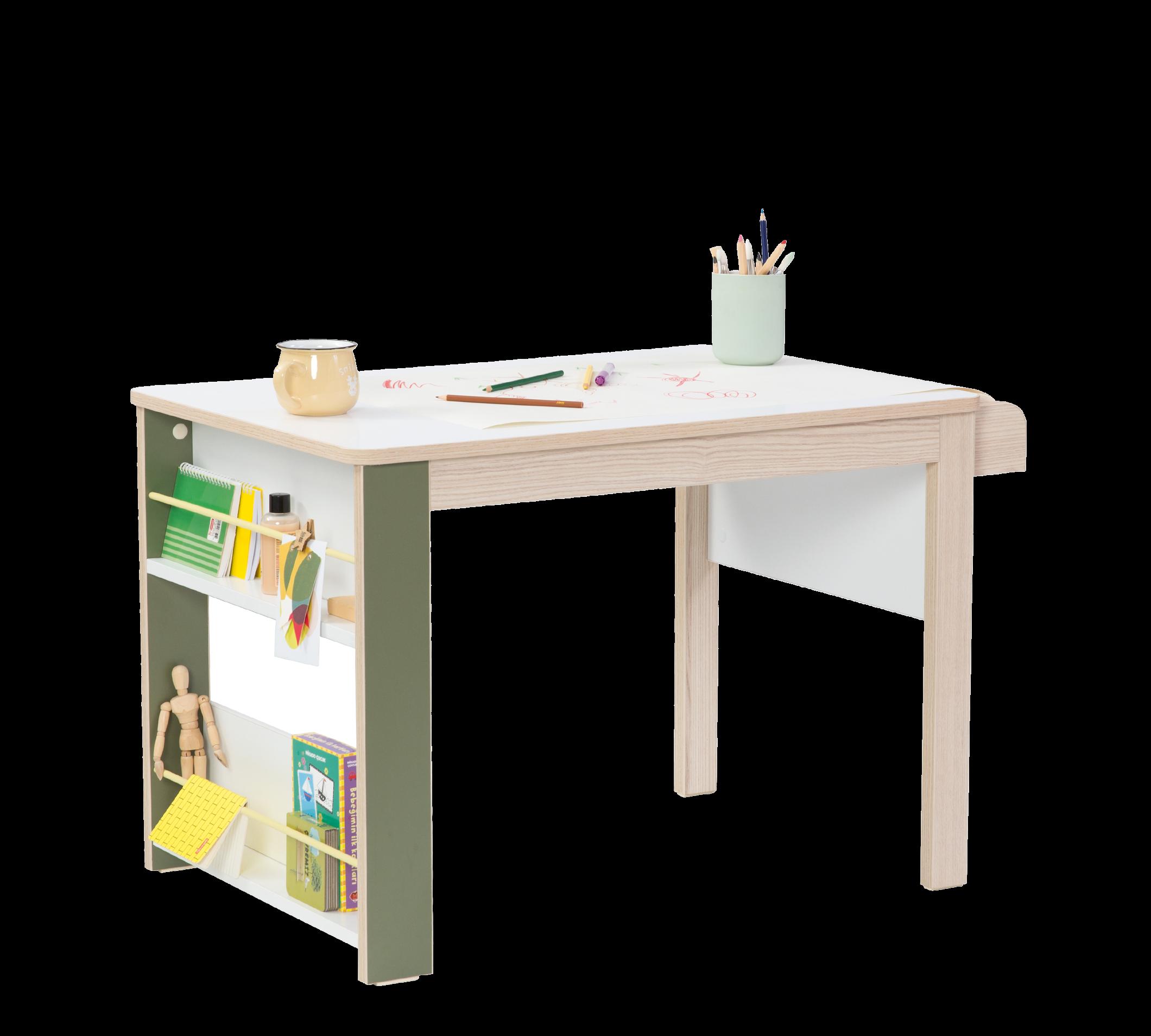 cm 139 H199 x 56 Bianco e Verde Armadio Tre Ante per cameretta Bambini Serie: Dafne-Montessori