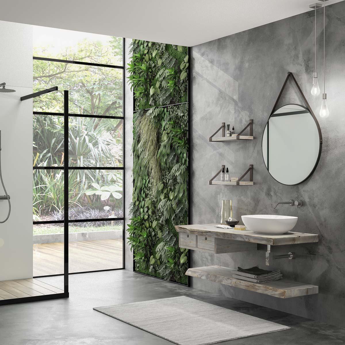 Armadietto Bagno Moderno mobile bagno moderno con lavabo sospeso – castagno grigio ossidato