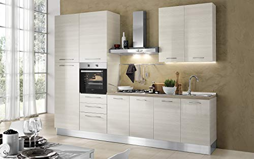 Complete kitchen sx side cm 300x60x216h includes hood for Cucine complete mondo convenienza