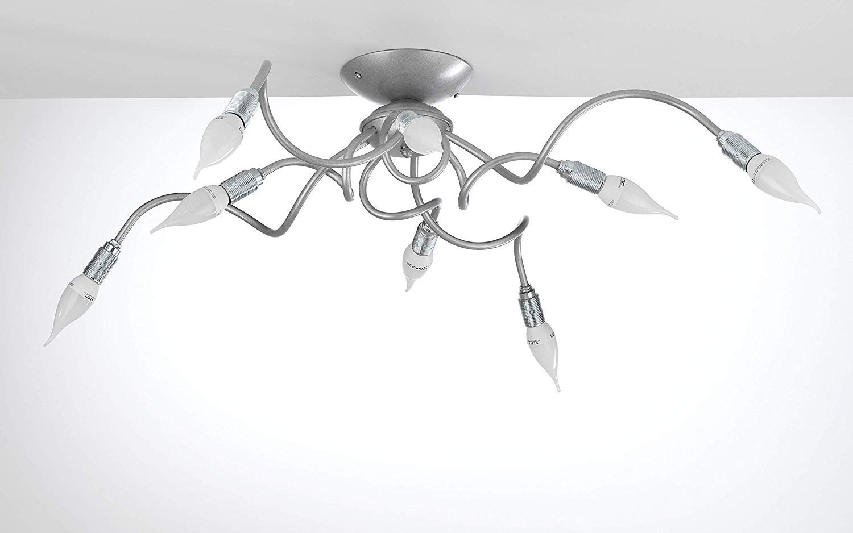 Plafoniere Con Lampadina A Vista : Dafnedesign lampadario plafoniera da soffitto a luci