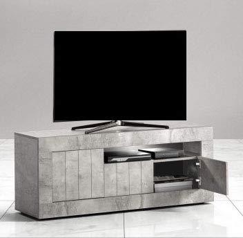 Mobile Porta TV - Colore: Cemento - Mobile Porta TV 3 Ante con vano a  Giorno - Misure: cm. 138 x 42 x 56h - (STP)