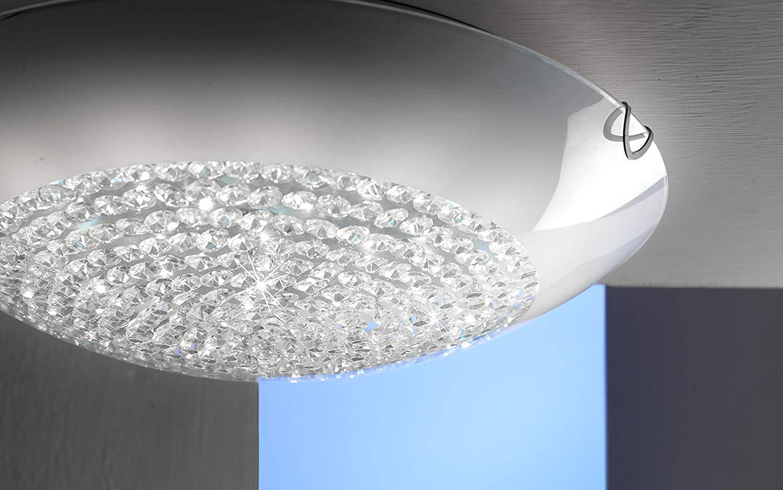 Plafoniere Cristallo : Dafnedesign.com plafoniera con cristalli diametro 40 cm. stile