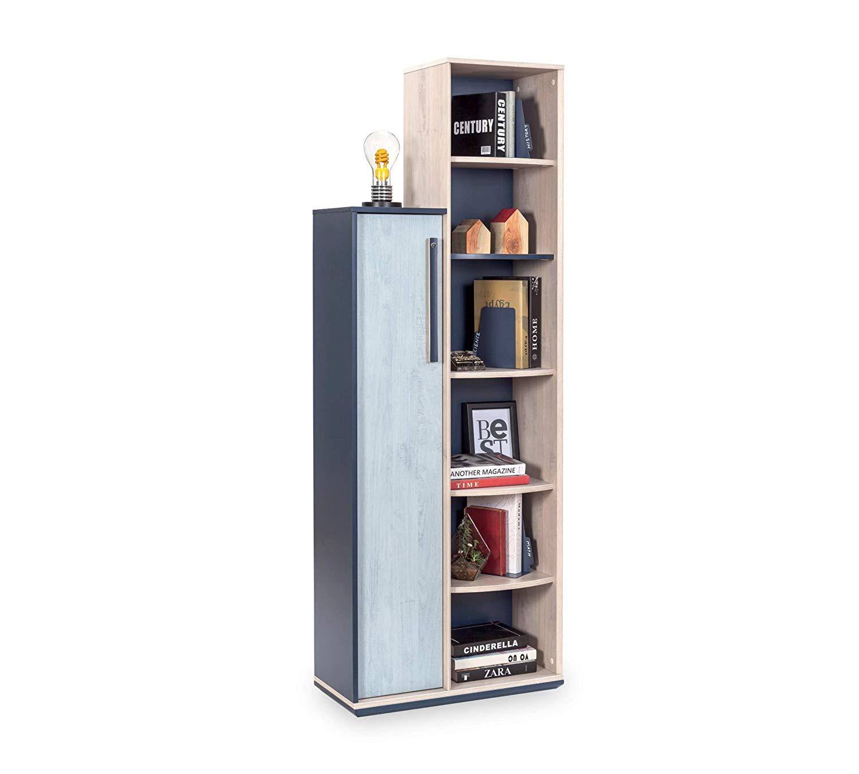 Scaffali E Librerie Design Legno.2 Librerie Con Scaffale Coppia Di Librerie In Legno Libreria Da Cameretta Per Bambino O Ragazzo Libreria Design Moderno Dimensioni 69 Cm
