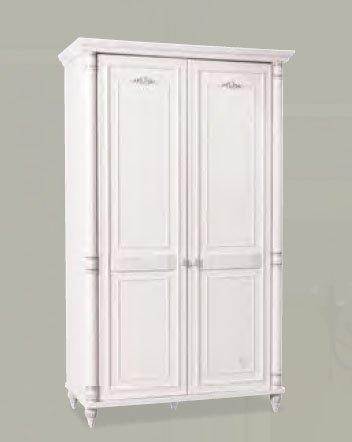 dafnedesign – armadio 2 ante, colore legno bianco, h. 203 x p