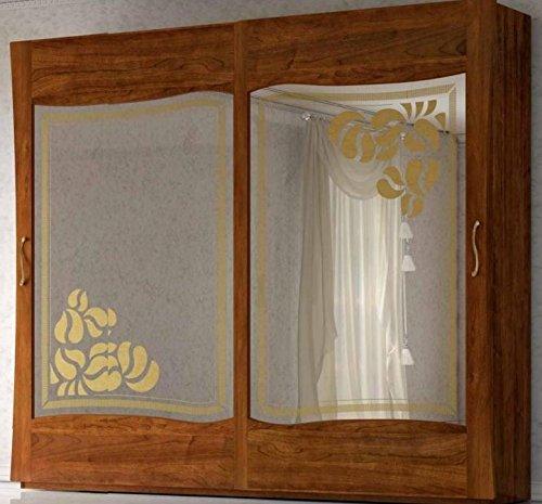 Armadio 2 Ante Scorrevoli Con Specchio Colore Legno Scuro Completo Di Cassettiera Interna H 252 X P 65 X L 289 190 Kg 1 60 Mc M 100 Made