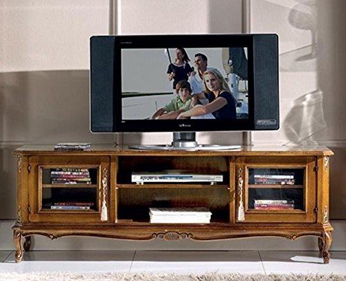 Dafnedesign.com - TV-Ständer, 2-Türen, 2-Fächer, dunkle Holzfarbe ...