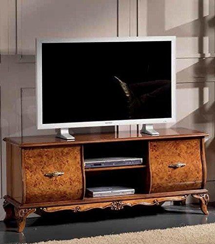 Dafnedesign.com – Base Porta Tv 2 vani e 2 cassetti, colore legno ...