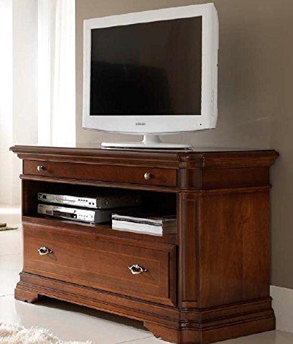 Dafnedesign.com - TV-Standfuß, dunkle Holzfarbe, H.72 X P.52 X L.123 ...