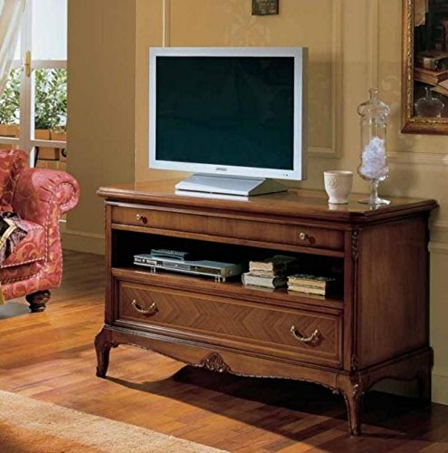 Dafnedesign.com - TV-Standfuß, dunkle Holzfarbe, H.73 X P.53 X L.124 ...
