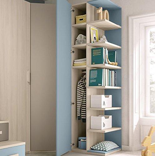 Cameretta completa per ragazzo, colori blu, grigio caldo ...