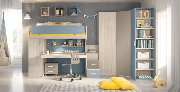 Dafnedesign Com Cameretta Completa Per Ragazzo Colori Blu Grigio