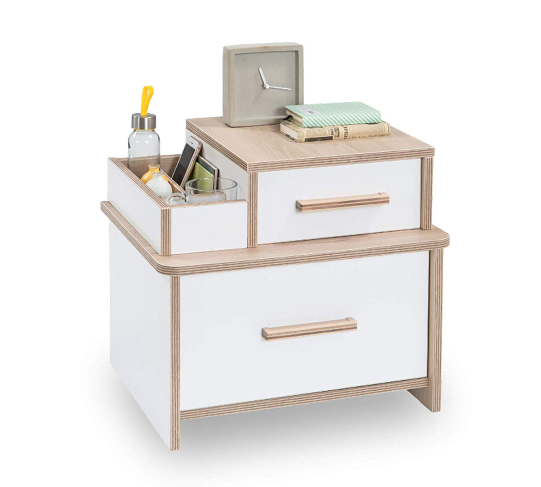 Comodino per cameretta da bambino o ragazzo - due cassetti e un organizer  porta oggetti - Si abbina ad una camera da letto con confortevole ambiente  ...