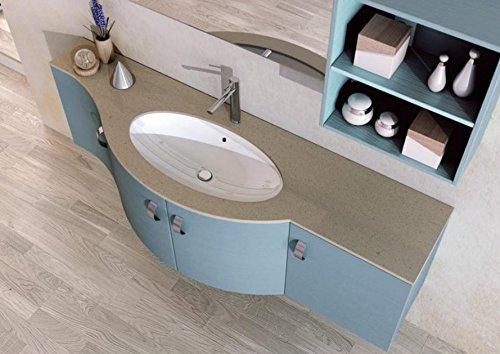 Dafnedesign complete badkamer compositie blauwe kleur