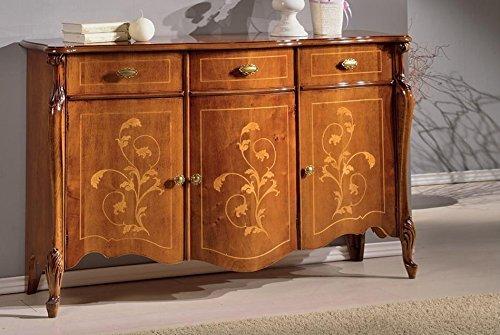 Credenza Dark Wood : Dafnedesign sideboard doors with drawers dark wood