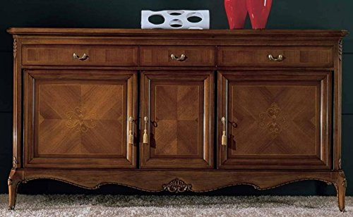 Credenza Dark Wood : Dafnedesign sideboard buffet doors dismountable dark