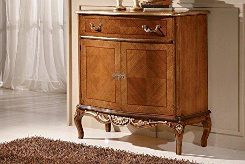 Credenza Dark Wood : Dafnedesign small sideboard drawer doors dark wood