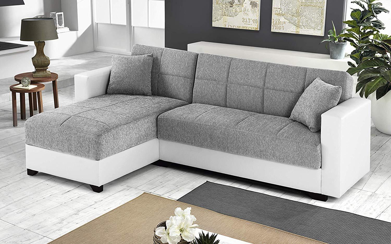 Dafnedesign.com - Divano angolare - Colore: grigio e bianco ...