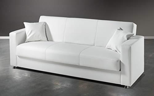 Divano Letto Bianco Ecopelle : Dafnedesign.com divano letto 3 posti colore: bianco