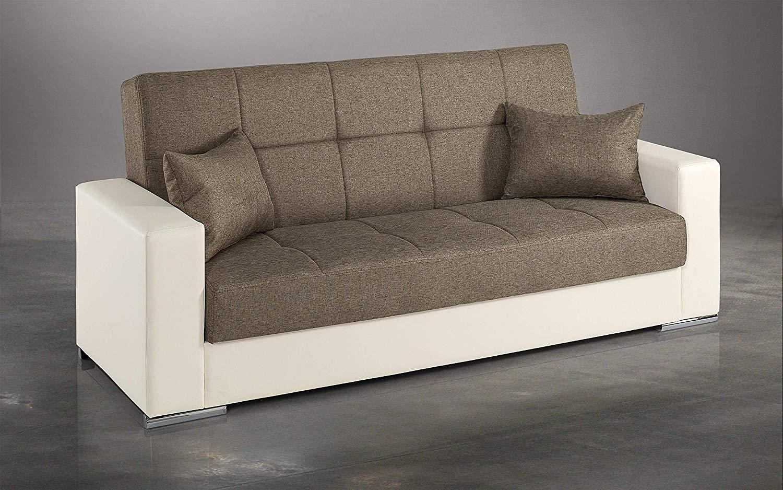 Divano Letto Bianco Ecopelle : Dafnedesign.com divano letto 3 posti colore: bianco e caffè