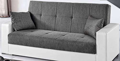 Slaapbank Van Leer.Dafnedesign Com Sofa 3 Plaatsen Kleur Wit En Grijs Bekleding