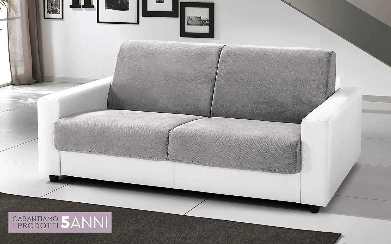Divano Letto Bianco Ecopelle : Dafnedesign.com divano letto 3 posti colore: bianco e grigio