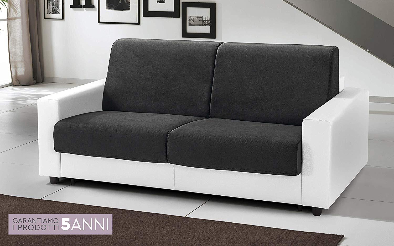 Divano Nero Ecopelle : Dafnedesign.com divano letto 3 posti colore: bianco e nero