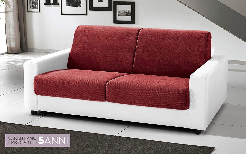 Divano Letto Bianco Ecopelle : Dafnedesign.com divano letto 3 posti colore: bianco rosso