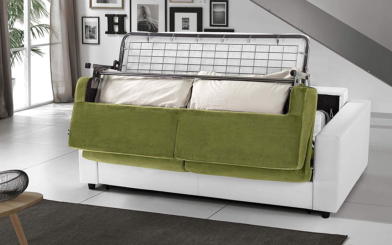 Divano Letto Bianco Ecopelle : Dafnedesign.com divano letto 3 posti colore: bianco verde