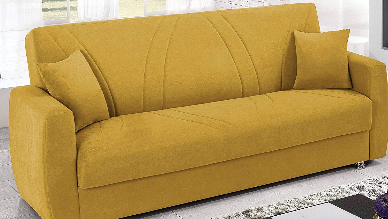 Letto Matrimoniale Giallo : Divano letto matrimoniale giallo: divano: divano letto con