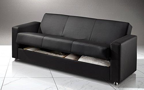 Dafnedesign Com Schlafsofa 3 Sitze Farbe Schwarz Polsterung