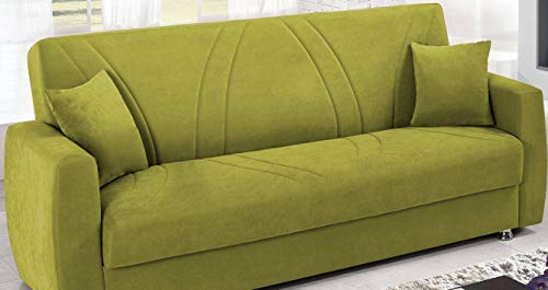 Dafnedesign Com Sofa Bed 3 Seats Color Green Covering Fabric