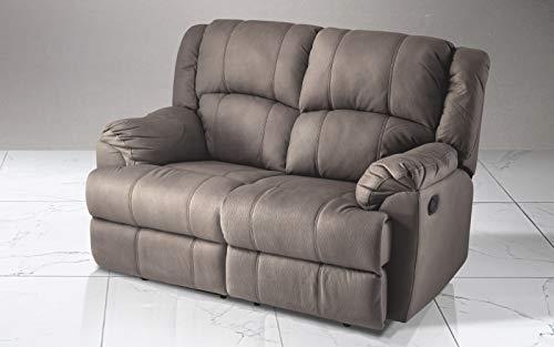 Divani a due posti con relax doppio divano in pelle con relax