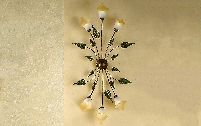 Plafoniere Legno E Vetro : Dafnedesign.com lampadario plafoniera da soffitto a 6 luci