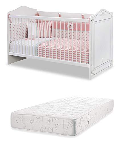 dafnedesigncom cot vroege jeugd slaapkamer voor pasgeboren of peuter een babybedje met veiligheidskooi met stokken inclusief een matras breedte