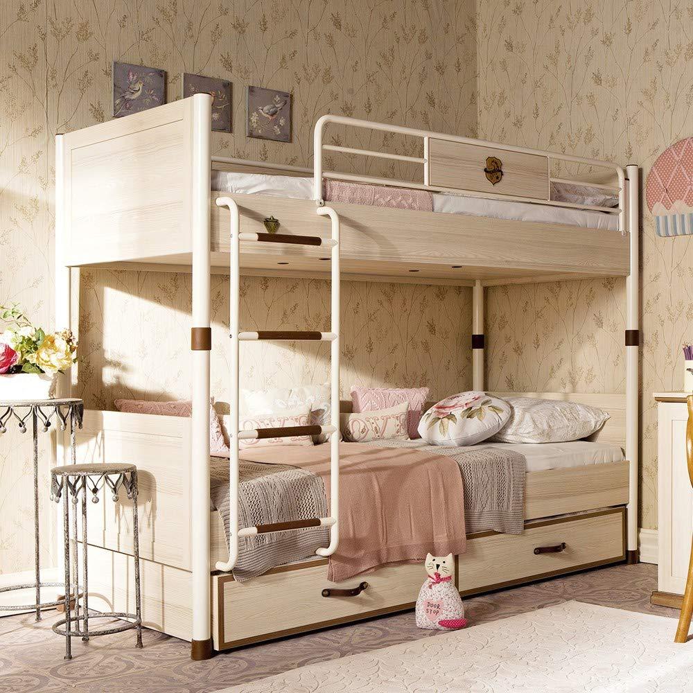 Letto a castello per cameretta da bambino o ragazzo - Si abbina ad una  camera da letto moderna - Dimensioni: 106 cm H 168 cm 208 cm - ...