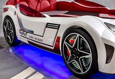 Letto A Forma Di Automobile : Dafnedesign.com letto a forma di auto misure h. 80 x p. 127 x l