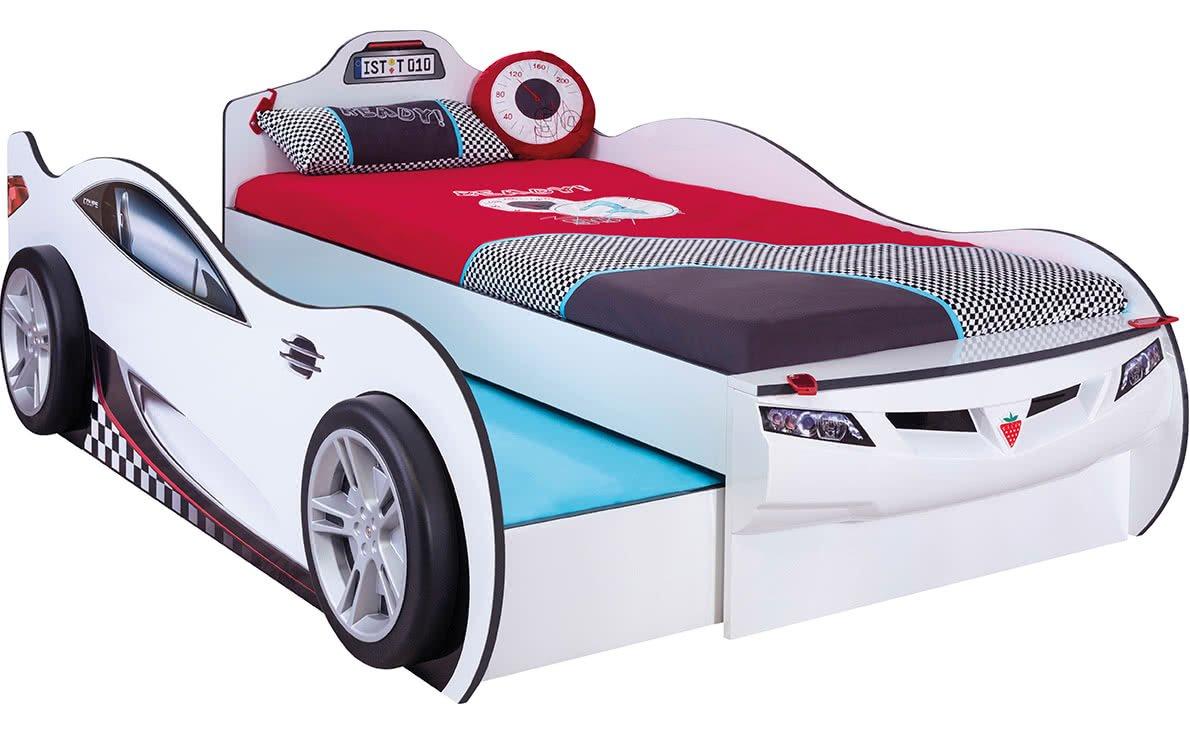 Letto A Forma Di Automobile : Dafnedesign letto a forma di automobile con letto estraibile