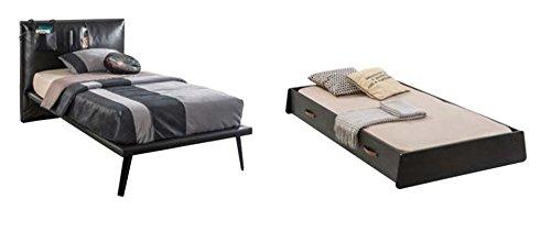 Dafnedesign.com - Letto singolo doppio con cassettone estraibile con letto  per camera da ragazzo - misure H.105 X P. 115 X L. 220 cm - per materasso  ...