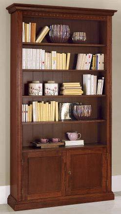 Dafnedesign.com - Libreria - Colore: noce - Libreria 2 ante e vano a ...