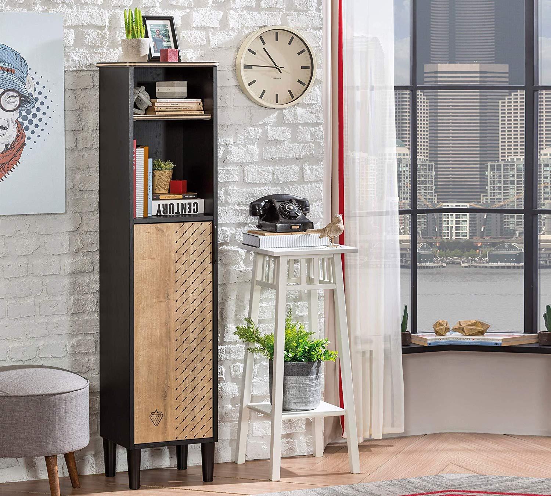 Libreria con scaffale in legno - Libreria da cameretta per bambini -  libreria design moderno - - Dimensioni: 34 cm H 146 cm 29 cm - [Serie: ...