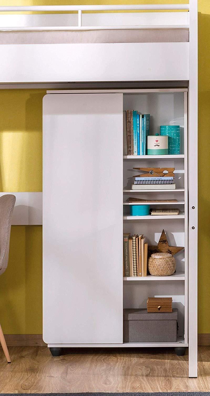 Libreria per cameretta da bambino o ragazzo - Si abbina ad una camera da  letto moderna - Libreria con anta e ripiani - Dimensioni: 76 cm H 140 cm 29  ...